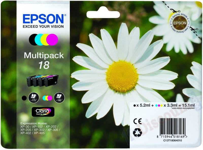 Pack cartouches EPSON 18